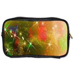 Star Christmas Background Image Red Toiletries Bags 2-Side