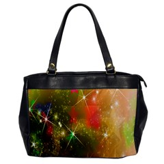 Star Christmas Background Image Red Office Handbags