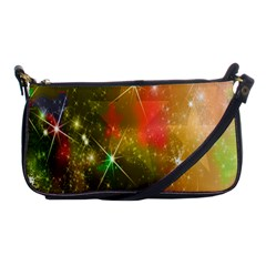 Star Christmas Background Image Red Shoulder Clutch Bags