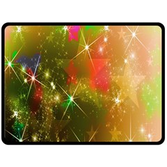 Star Christmas Background Image Red Fleece Blanket (Large)