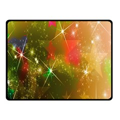 Star Christmas Background Image Red Fleece Blanket (Small)