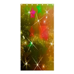 Star Christmas Background Image Red Shower Curtain 36  x 72  (Stall)