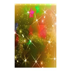 Star Christmas Background Image Red Shower Curtain 48  x 72  (Small)