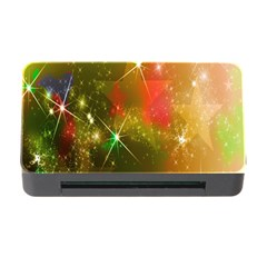Star Christmas Background Image Red Memory Card Reader With Cf