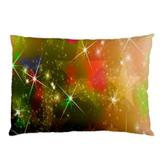 Star Christmas Background Image Red Pillow Case (two Sides)