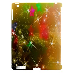 Star Christmas Background Image Red Apple Ipad 3/4 Hardshell Case (compatible With Smart Cover)