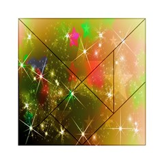 Star Christmas Background Image Red Acrylic Tangram Puzzle (6  X 6 )