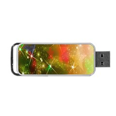 Star Christmas Background Image Red Portable Usb Flash (two Sides)