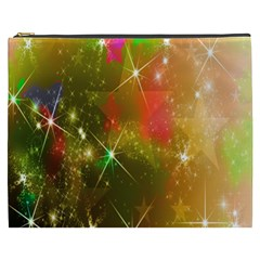 Star Christmas Background Image Red Cosmetic Bag (xxxl)