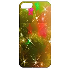 Star Christmas Background Image Red Apple iPhone 5 Classic Hardshell Case