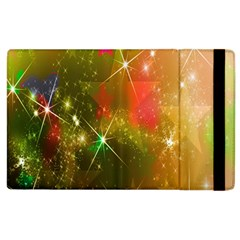 Star Christmas Background Image Red Apple Ipad 3/4 Flip Case