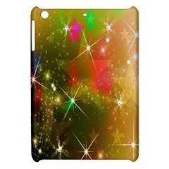Star Christmas Background Image Red Apple Ipad Mini Hardshell Case