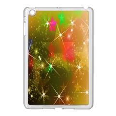 Star Christmas Background Image Red Apple Ipad Mini Case (white)