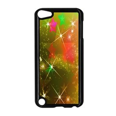 Star Christmas Background Image Red Apple iPod Touch 5 Case (Black)