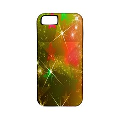 Star Christmas Background Image Red Apple Iphone 5 Classic Hardshell Case (pc+silicone)