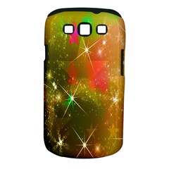 Star Christmas Background Image Red Samsung Galaxy S III Classic Hardshell Case (PC+Silicone)