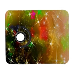 Star Christmas Background Image Red Galaxy S3 (flip/folio)