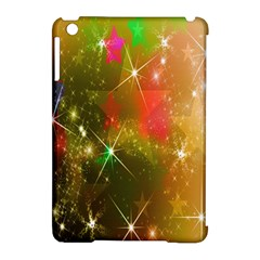 Star Christmas Background Image Red Apple Ipad Mini Hardshell Case (compatible With Smart Cover)