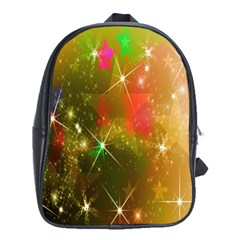 Star Christmas Background Image Red School Bags (xl)