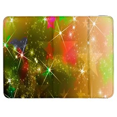 Star Christmas Background Image Red Samsung Galaxy Tab 7  P1000 Flip Case