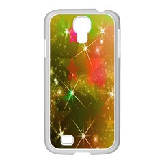 Star Christmas Background Image Red Samsung Galaxy S4 I9500/ I9505 Case (white)