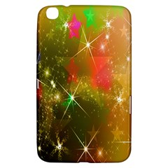 Star Christmas Background Image Red Samsung Galaxy Tab 3 (8 ) T3100 Hardshell Case