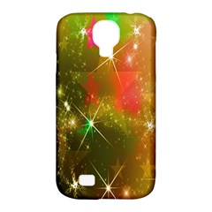 Star Christmas Background Image Red Samsung Galaxy S4 Classic Hardshell Case (pc+silicone)