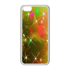 Star Christmas Background Image Red Apple Iphone 5c Seamless Case (white)