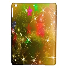 Star Christmas Background Image Red Ipad Air Hardshell Cases