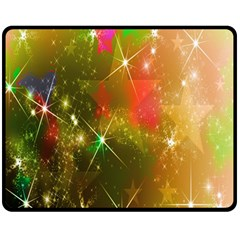 Star Christmas Background Image Red Double Sided Fleece Blanket (Medium)