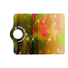 Star Christmas Background Image Red Kindle Fire Hd (2013) Flip 360 Case