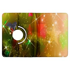 Star Christmas Background Image Red Kindle Fire Hdx Flip 360 Case