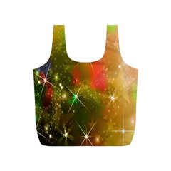 Star Christmas Background Image Red Full Print Recycle Bags (s)
