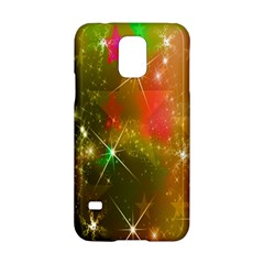 Star Christmas Background Image Red Samsung Galaxy S5 Hardshell Case