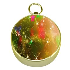 Star Christmas Background Image Red Gold Compasses