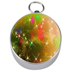 Star Christmas Background Image Red Silver Compasses