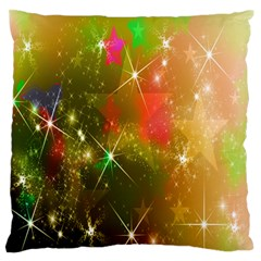 Star Christmas Background Image Red Large Flano Cushion Case (one Side)