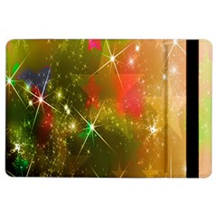 Star Christmas Background Image Red iPad Air 2 Flip
