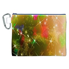 Star Christmas Background Image Red Canvas Cosmetic Bag (xxl)