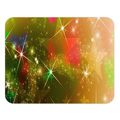 Star Christmas Background Image Red Double Sided Flano Blanket (Large)