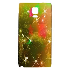 Star Christmas Background Image Red Galaxy Note 4 Back Case