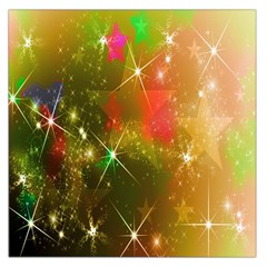 Star Christmas Background Image Red Large Satin Scarf (Square)