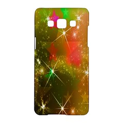 Star Christmas Background Image Red Samsung Galaxy A5 Hardshell Case