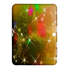 Star Christmas Background Image Red Samsung Galaxy Tab 4 (10 1 ) Hardshell Case