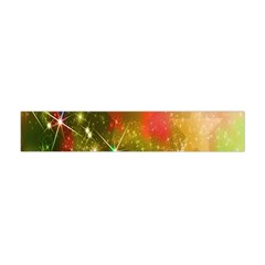 Star Christmas Background Image Red Flano Scarf (mini)