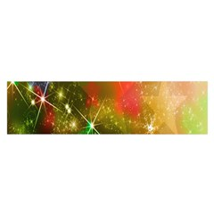 Star Christmas Background Image Red Satin Scarf (Oblong)