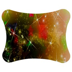 Star Christmas Background Image Red Jigsaw Puzzle Photo Stand (Bow)