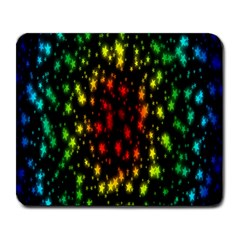 Star Christmas Curtain Abstract Large Mousepads
