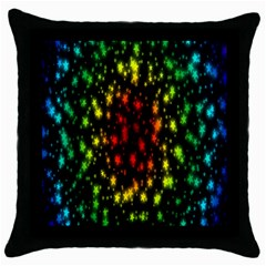 Star Christmas Curtain Abstract Throw Pillow Case (Black)