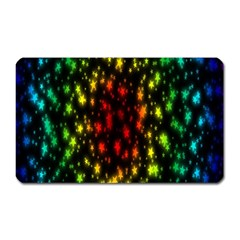 Star Christmas Curtain Abstract Magnet (Rectangular)